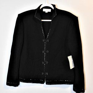Black St. John's Evening Jacket NWT